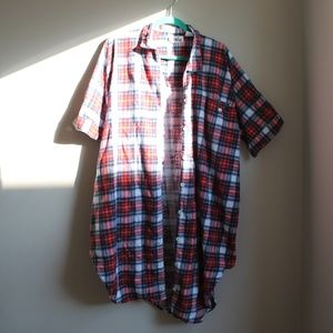 Vintage Plaid Housecoat/Nightgown
